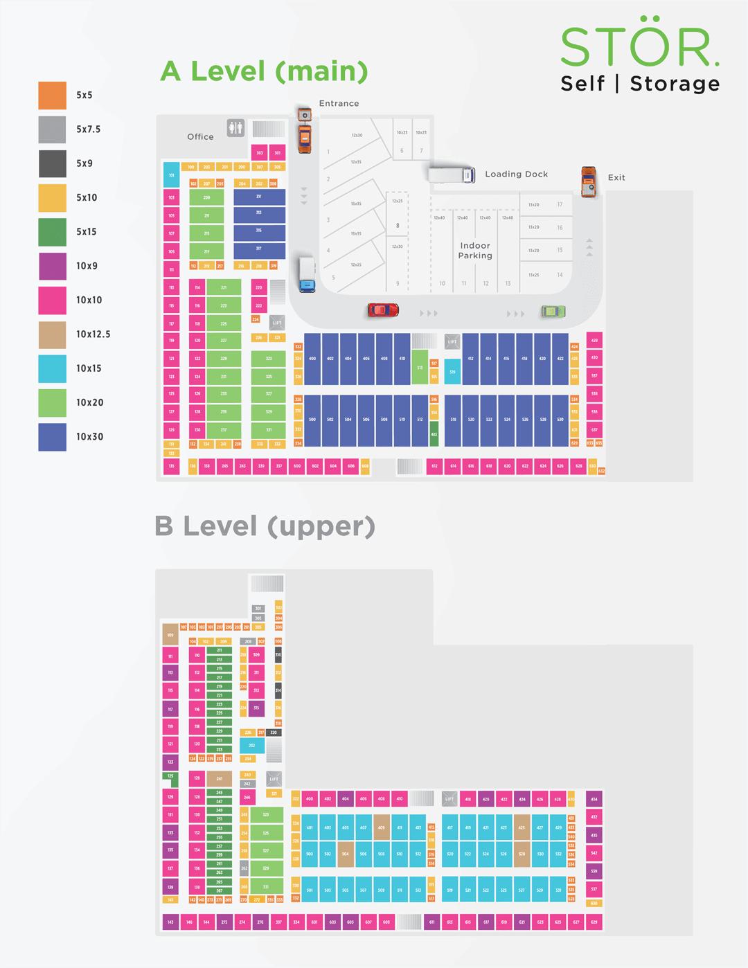 Storage types map Brighton